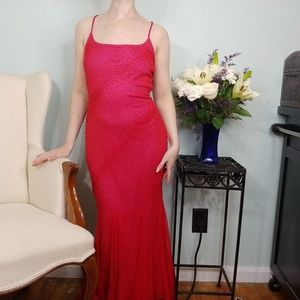 Gorgeous Vintage Red Beaded Gown